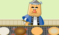 Шеф повар готовит оладьи