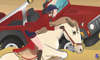 Скачки на египетской лошади