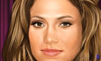 Дженнифер Лопес накладывает себе макияж
