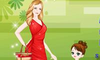 Мама и дочь в магазине