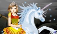 Принцесса верхом на единороге