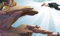 Орел кормит птенца