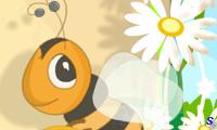 Пчела собирает цветы по цвету