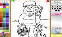 Раскраска человек и заяц