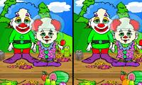 Найди 7 отличий: два клоуна