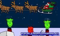 Дед Мороз развозит подарки