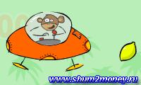 Обезьяна на летающей тарелке