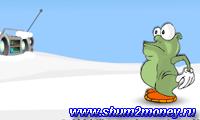 Монстр поедающий снежинки