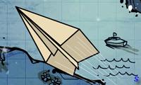Полет бумажного самолетика
