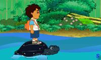 Диего прыгает по черепахам