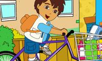 Мальчик Диего перевозит продукты