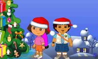 Диего и Даша собирают новогодние подарки