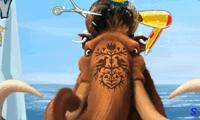 Игра Ледниковый период: Мэнни в парикмахерской