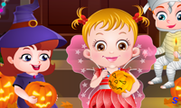 Малышка Хейзел на вечеринке Хэллоуин
