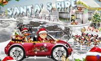Дед Мороз едет на машине