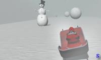 Дед Мороз спускается с горы на санях