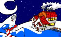Бродилка дед Мороза по дому