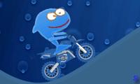 Акула катается на велосипеде
