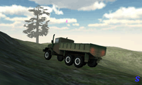 Военный грузовик: доставка боеприпасов
