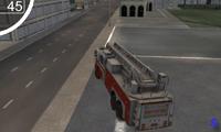 Пожарная машина: езда по городу