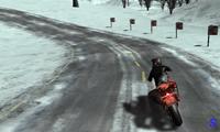 Вождение на мотоцикле по зимней дороге