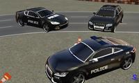 Полицейские машины: экстремальное вождение и парковка