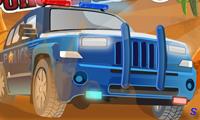 Полицейский джип: катание по горам