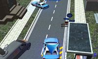 Парковка полицейской машины в городе