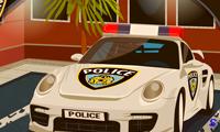 Хаос на парковке у полицейского участка