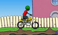 Счастливый велосипедист