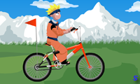 Езда Наруто на велосипеде