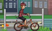 Езда на велосипеде по городу Амстердам