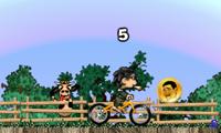 Детские гонки на велосипедах с трюками