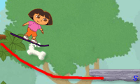 Девочка Даша спасает собаку