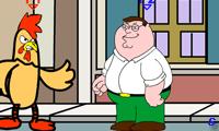 Питер Гриффин против гигантской курицы