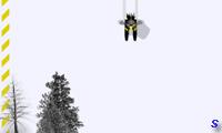Лыжная трасса с трамплинами