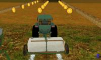 Парковка трактора на ферме