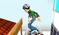 Трюки скейтбордиста в городе